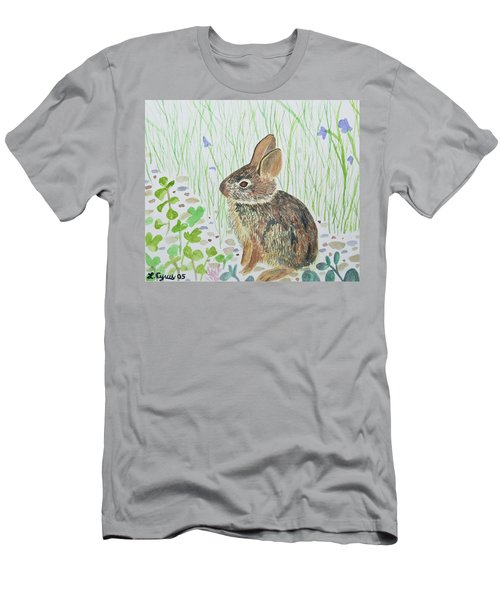 Watercolor - Baby Bunny Men's T-Shirt (Athletic Fit)