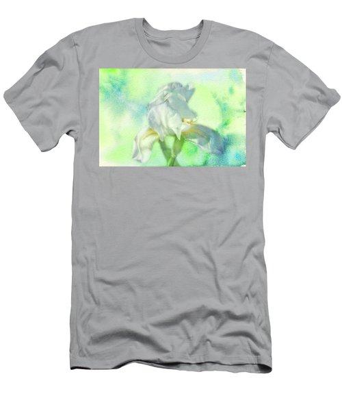 Watercolor Iris Men's T-Shirt (Slim Fit) by Joan Bertucci