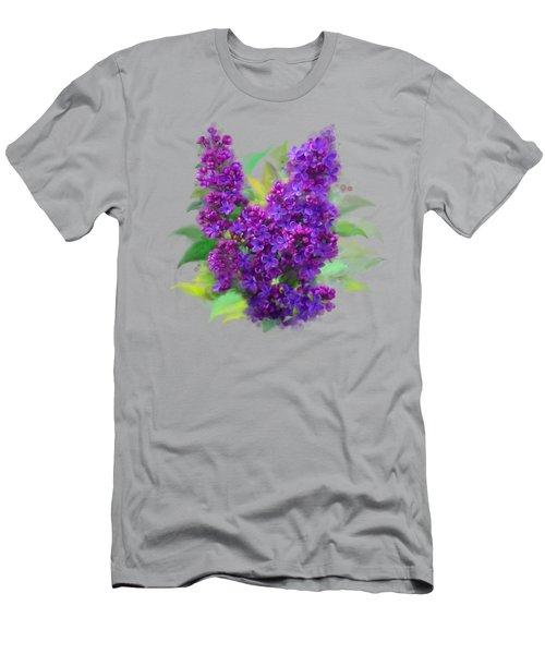 Watercolor Lilac Men's T-Shirt (Athletic Fit)