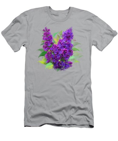 Men's T-Shirt (Athletic Fit) featuring the painting Watercolor Lilac by Ivana Westin