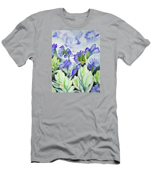 Watercolor - Rocky Mountain Wildflowers Men's T-Shirt (Athletic Fit)