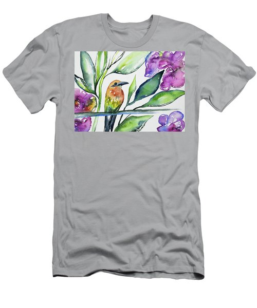 Watercolor - Rufous Motmot Men's T-Shirt (Athletic Fit)