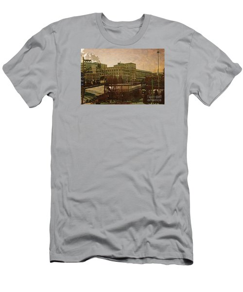 Men's T-Shirt (Slim Fit) featuring the digital art Watershed by David Blank