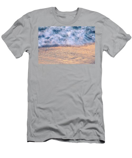 Men's T-Shirt (Athletic Fit) featuring the photograph Wave Abstract 3, Hoi An, 2014 by Hitendra SINKAR