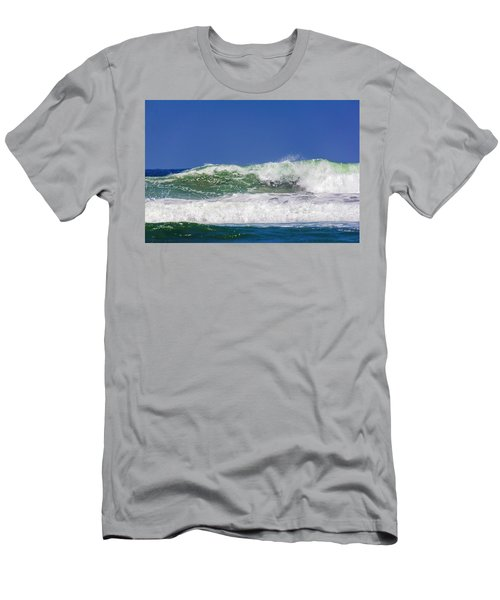 Wave Rolling To The Beach Men's T-Shirt (Athletic Fit)