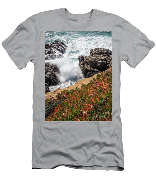 Waves And Rocks At Soberanes Point, California 30296 Men's T-Shirt (Athletic Fit)