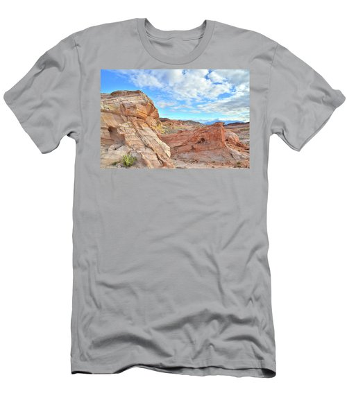 Waves Of Sandstone In Valley Of Fire Men's T-Shirt (Slim Fit) by Ray Mathis
