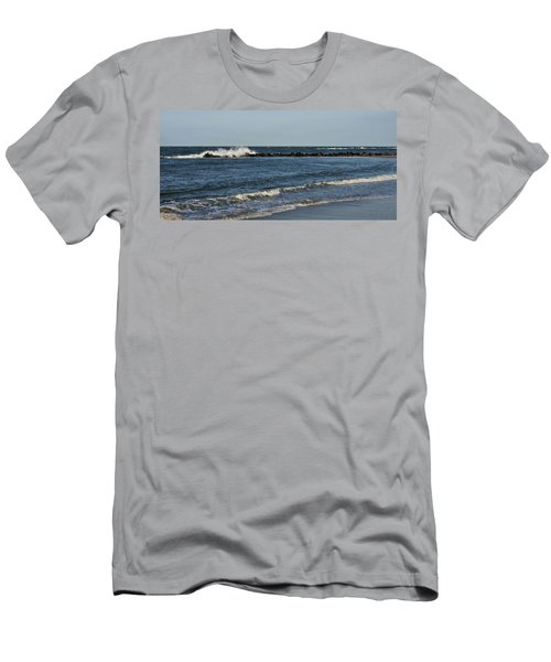 Men's T-Shirt (Slim Fit) featuring the photograph Waves by Sandy Keeton