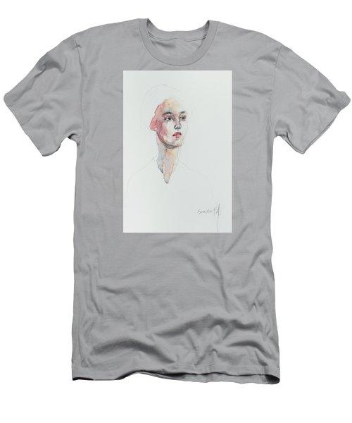 Wc Mini Portrait 6             Men's T-Shirt (Slim Fit) by Becky Kim