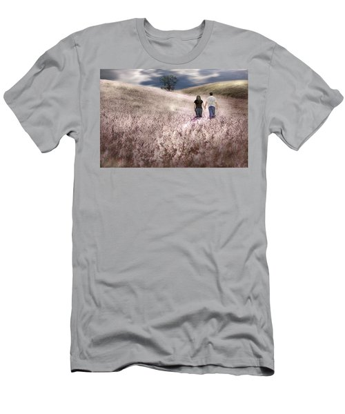 We Made Love Under The Tree Men's T-Shirt (Slim Fit) by Gray  Artus