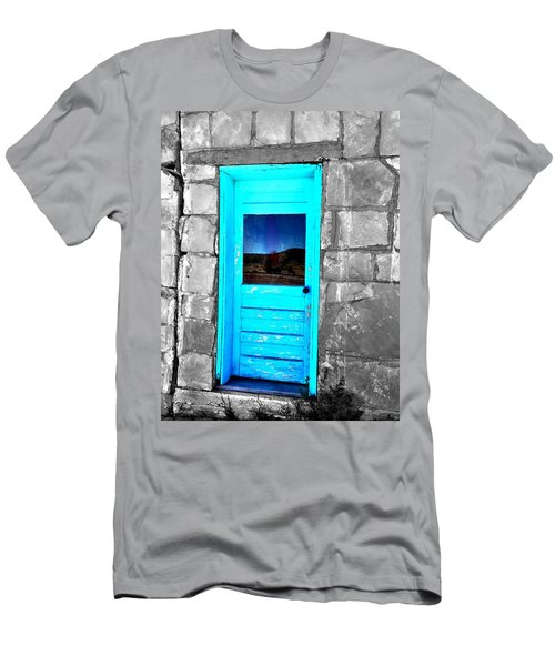Weathered Blue Men's T-Shirt (Athletic Fit)
