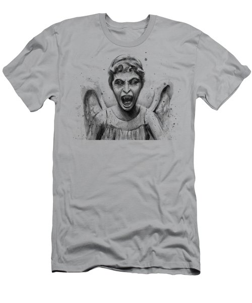 Weeping Angel Watercolor - Don't Blink Men's T-Shirt (Athletic Fit)