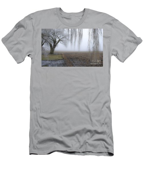 Weeping Frozen Willow Men's T-Shirt (Slim Fit) by Amy Fearn
