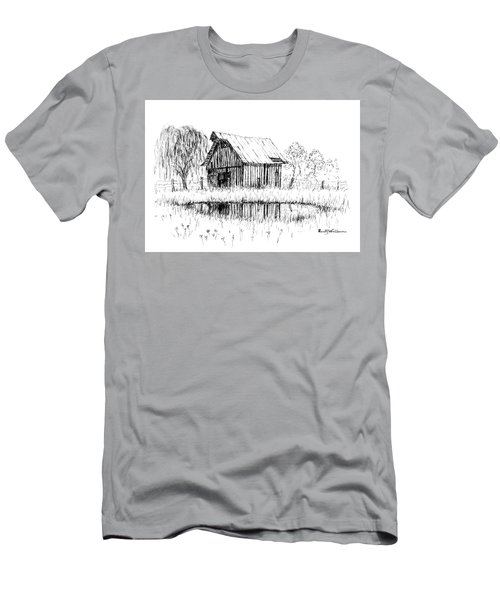 Weeping Willow And Barn Two Men's T-Shirt (Athletic Fit)