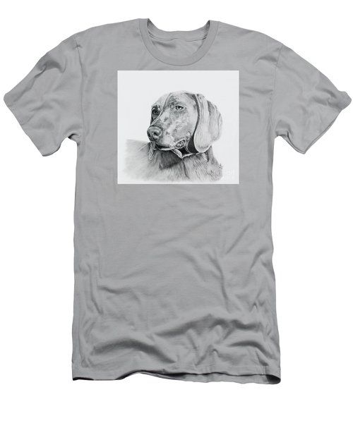 Men's T-Shirt (Slim Fit) featuring the drawing Weimaraner by Terri Mills