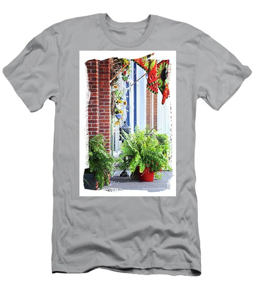 Men's T-Shirt (Slim Fit) featuring the photograph Welcome by Lena Wilhite