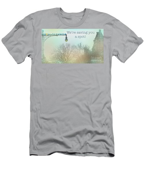 Men's T-Shirt (Slim Fit) featuring the photograph We're Saving You A Spot by Sandy Moulder