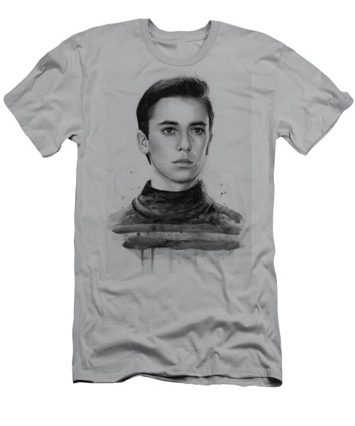 Wesley Crusher Star Trek Fan Art Men's T-Shirt (Slim Fit) by Olga Shvartsur