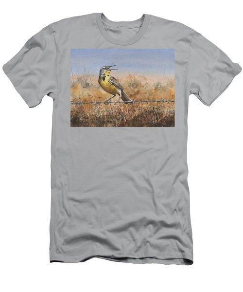 Western Meadowlark Men's T-Shirt (Athletic Fit)