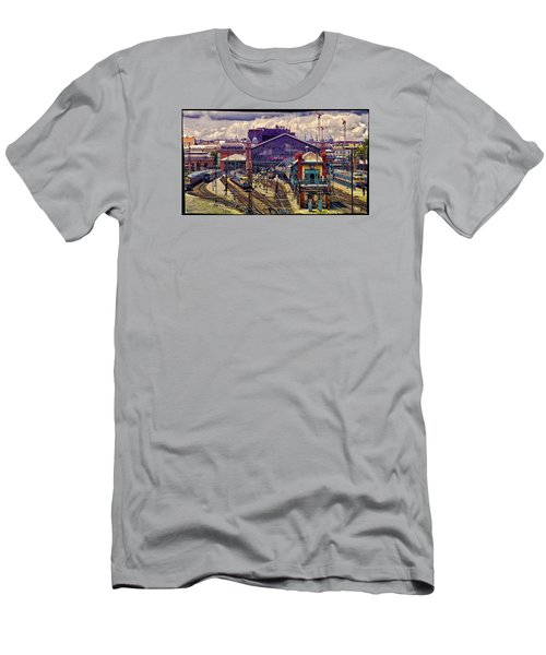 Western Rail Station, Budapest Men's T-Shirt (Athletic Fit)