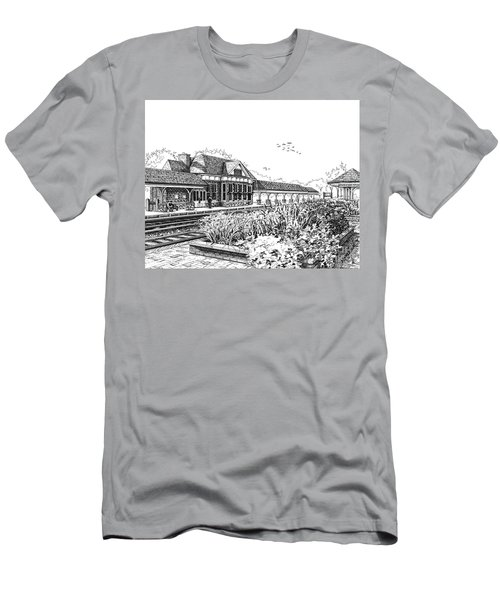 Western Springs Train Station Men's T-Shirt (Athletic Fit)