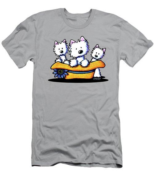 Westie Hat Trio Men's T-Shirt (Athletic Fit)