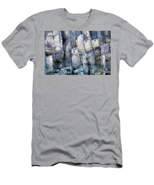 Men's T-Shirt (Slim Fit) featuring the photograph Wet Rocks 2 by Hitendra SINKAR
