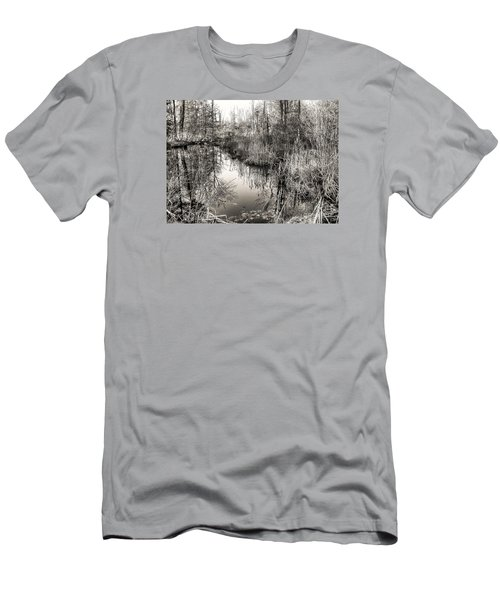 Men's T-Shirt (Slim Fit) featuring the photograph Wetland Essence by Betsy Zimmerli