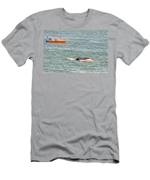 Whale Tail Men's T-Shirt (Athletic Fit)