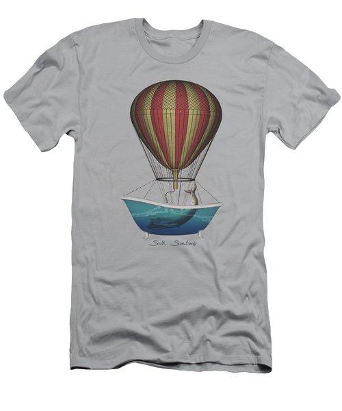 Men's T-Shirt (Slim Fit) featuring the digital art Seek Sanctuary by Galen Valle