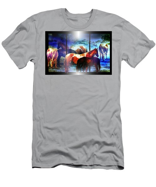 What  Horses Dream Men's T-Shirt (Slim Fit) by Hartmut Jager