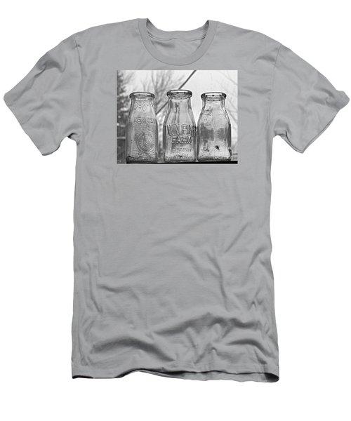 What The Milk Man Left, Bw Men's T-Shirt (Slim Fit) by Sandra Church