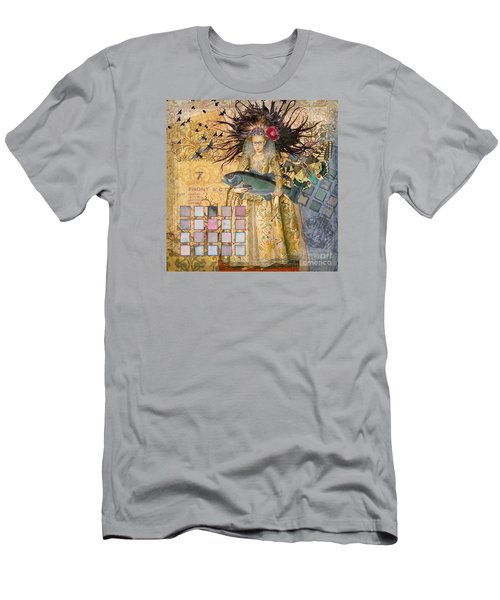 Whimsical Pisces Woman Renaissance Fishing Gothic Men's T-Shirt (Slim Fit) by Mary Hubley