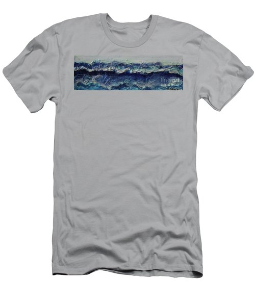 Whipped Cream Waves Men's T-Shirt (Athletic Fit)