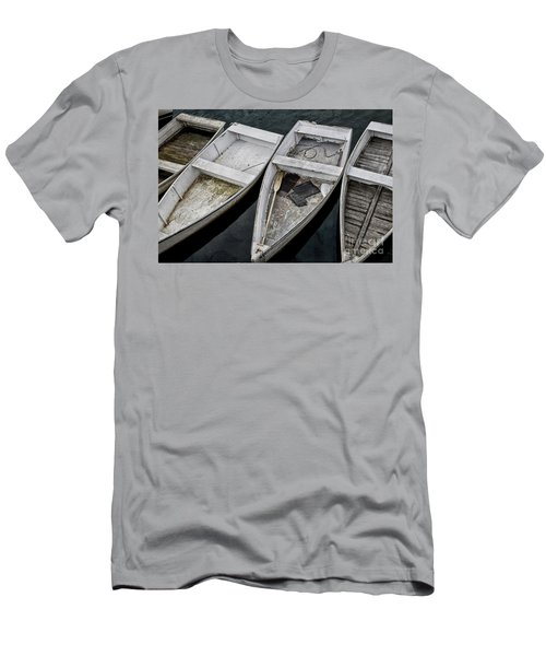 White Boats Men's T-Shirt (Athletic Fit)