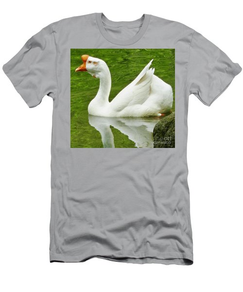 White Chinese Goose Men's T-Shirt (Slim Fit) by Susan Garren