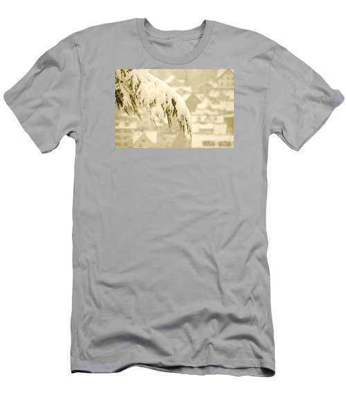 Men's T-Shirt (Slim Fit) featuring the photograph White Christmas - Winter In Switzerland by Susanne Van Hulst