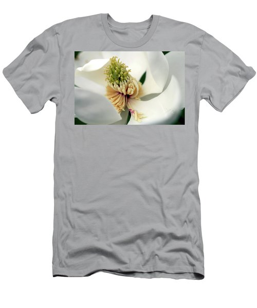 Magnolia Blossom Men's T-Shirt (Slim Fit) by Meta Gatschenberger