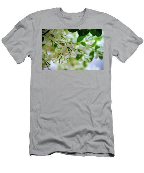 White Flowers Men's T-Shirt (Athletic Fit)