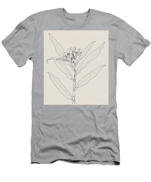Men's T-Shirt (Athletic Fit) featuring the drawing White Ginger by Judith Kunzle