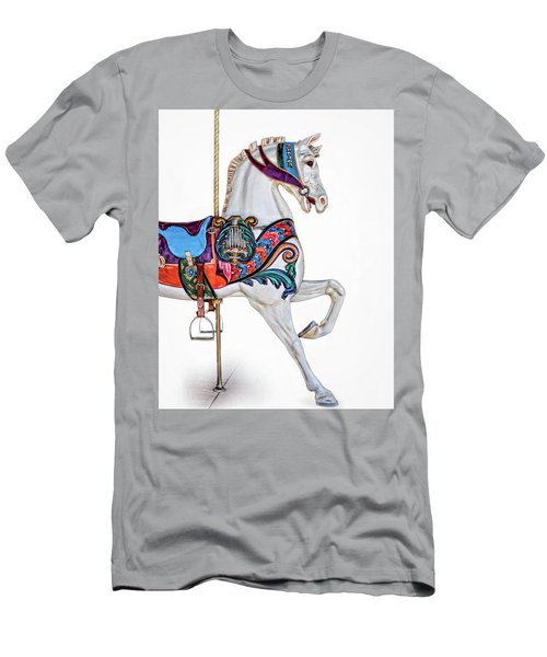 White Horse Of The Carousel Men's T-Shirt (Slim Fit) by David and Carol Kelly