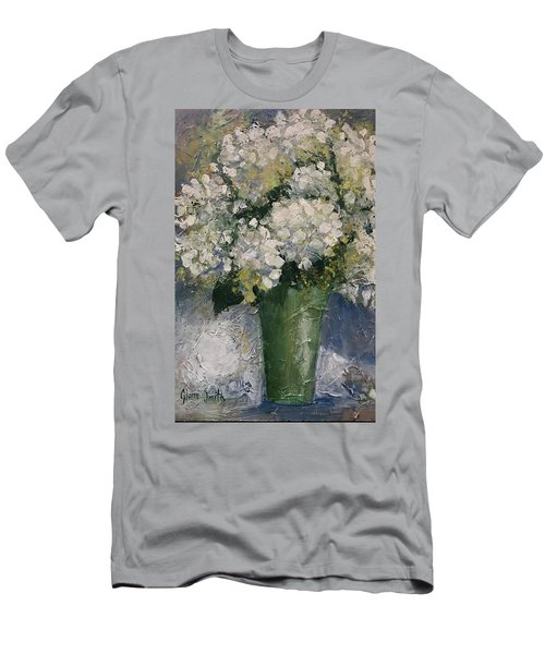 White Hydrangeas Men's T-Shirt (Athletic Fit)