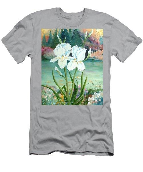 White Iris Love Men's T-Shirt (Athletic Fit)