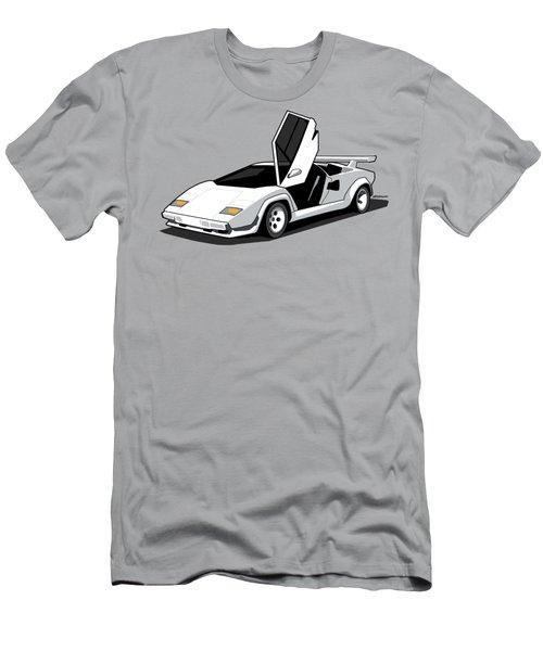 White Lamborghini Countach Men's T-Shirt (Athletic Fit)