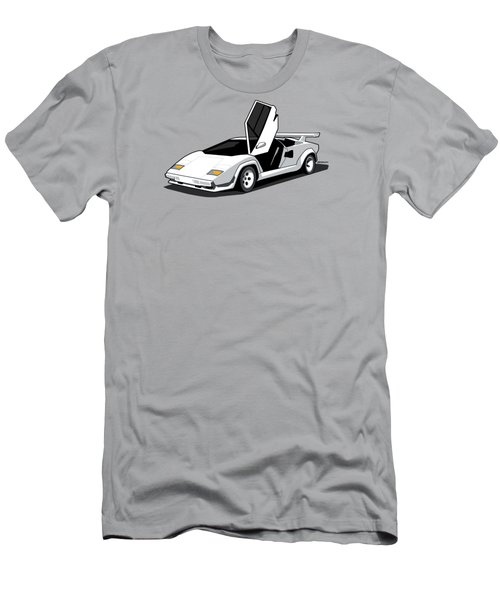 White Lamborghini Countach Men's T-Shirt (Athletic Fit)