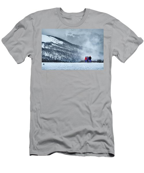 White Landscape In The Frozen Paradise In The Argentine Patagonia Men's T-Shirt (Athletic Fit)