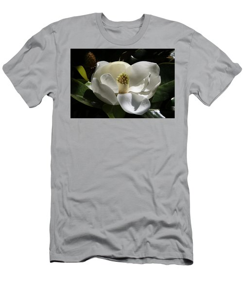 White Magnolia Flower Men's T-Shirt (Athletic Fit)