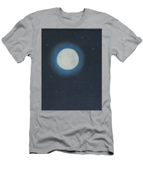 White Moon At Night Men's T-Shirt (Athletic Fit)