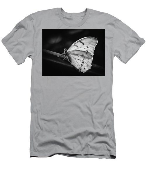 White Morpho Black And White Men's T-Shirt (Athletic Fit)
