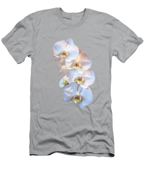 White Orchid Cutout Men's T-Shirt (Athletic Fit)